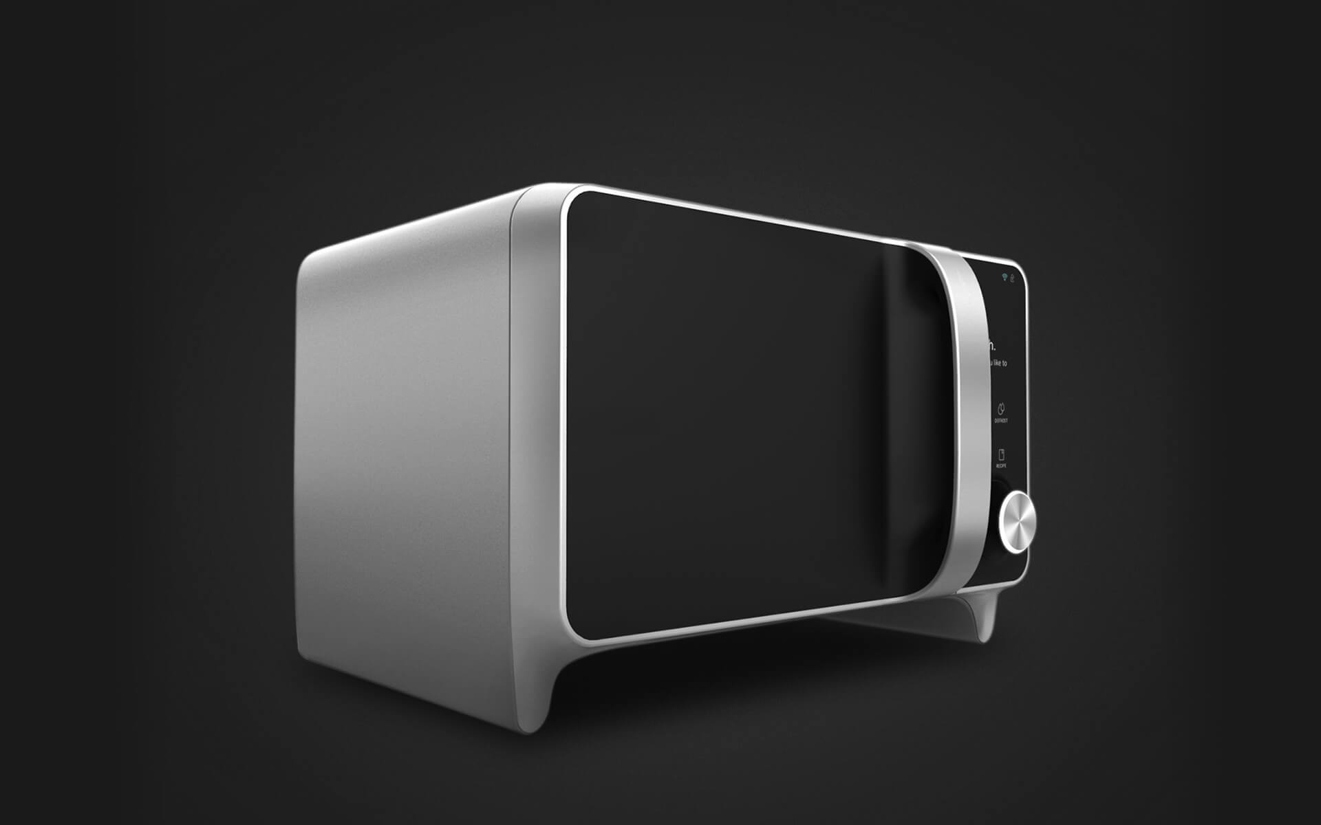 Smart Microwave-A microwave which doubles up with a cooking assistant was one of the goals of the project